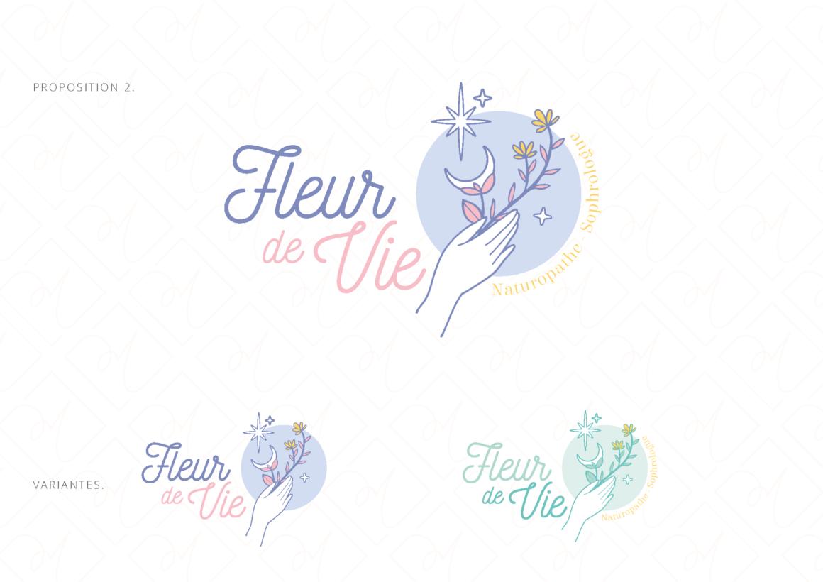 Propositions de logo Fleur de vie Lara Mendez